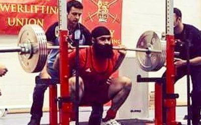 Indy Singh British Army Powerlifting Champion