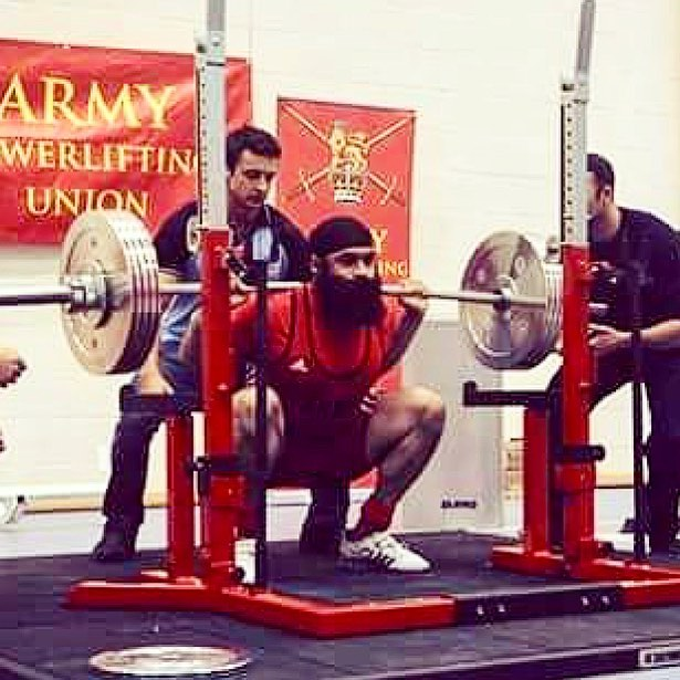 Indy Singh British Army Powerlifting Champion