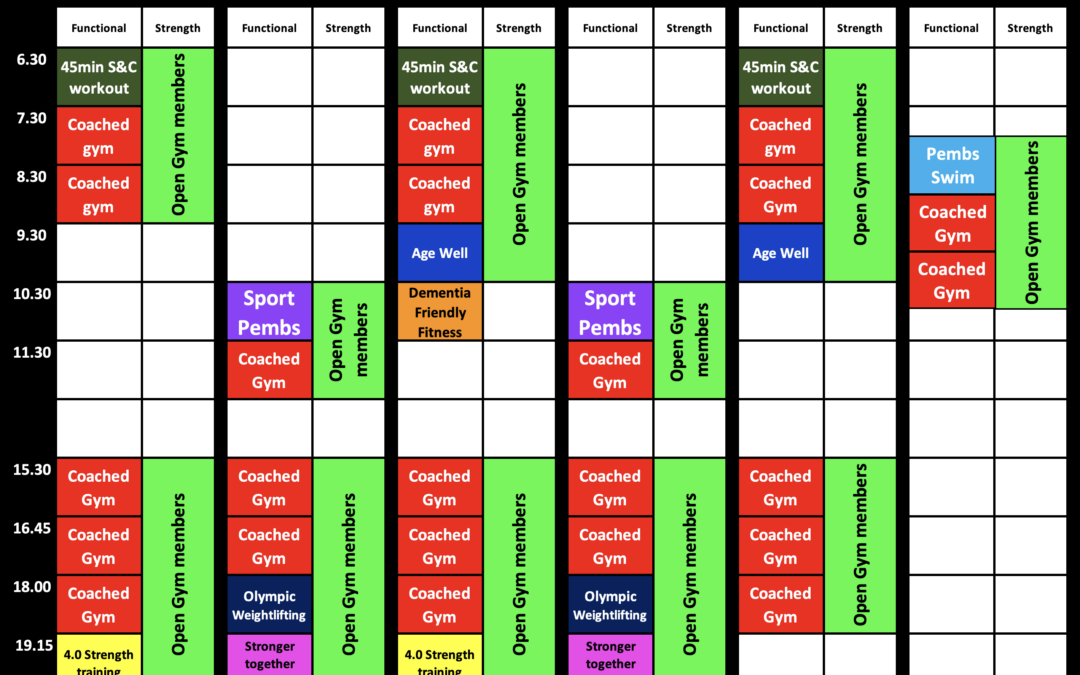 Amended Timetable
